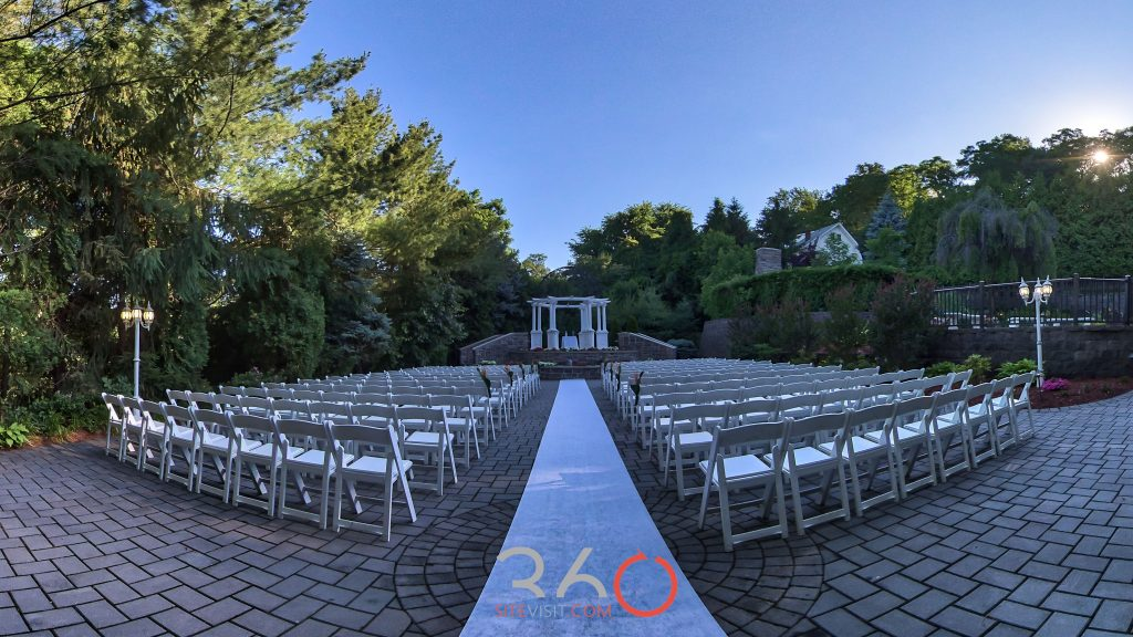 Valley Regency Wedding and event venue outdoor ceremony Clifton, NJ photo by 360sitevisit.com