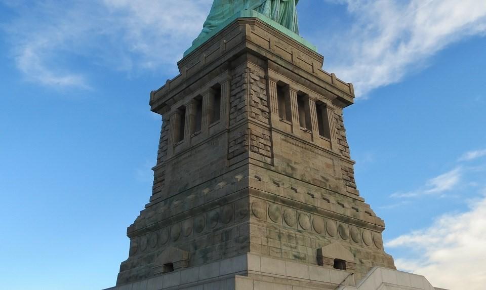 Lady Liberty pedestal