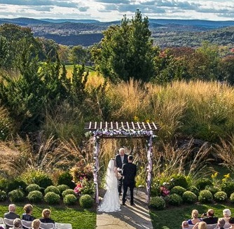 Ceremony at Crystal Springs resort in New Jersey