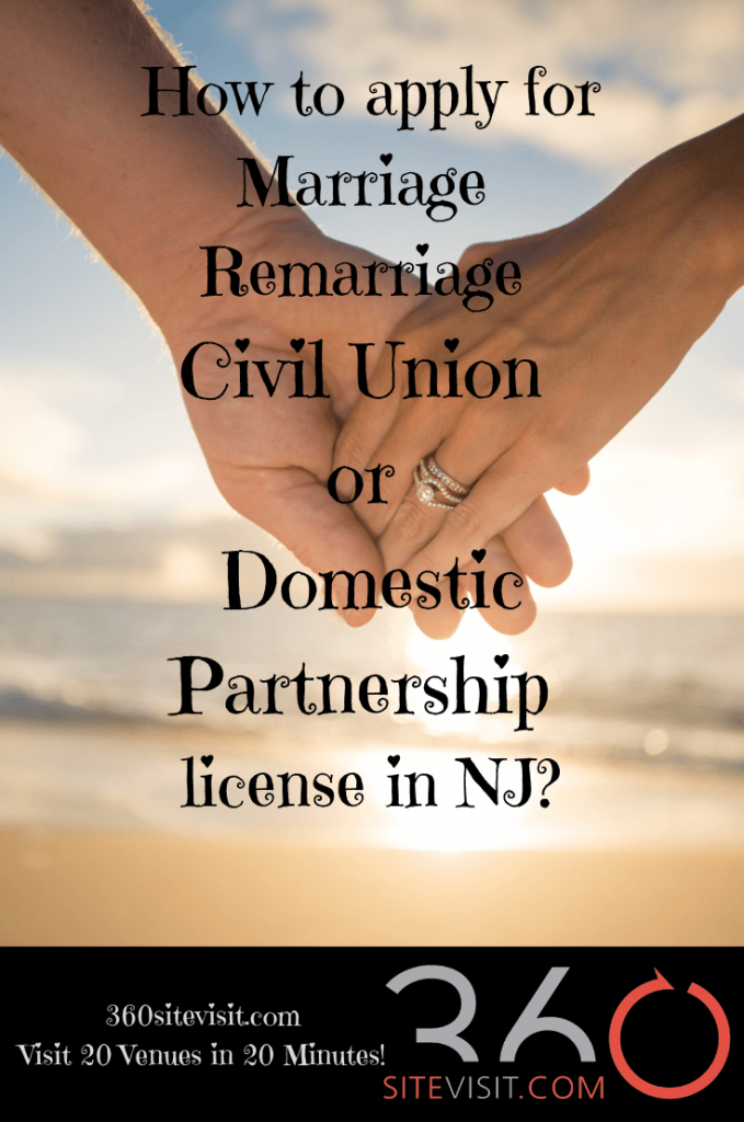 Marriage license in New Jersey