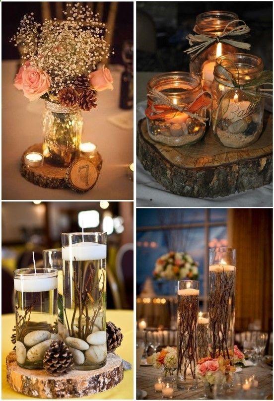 Wedding decor idea with candles