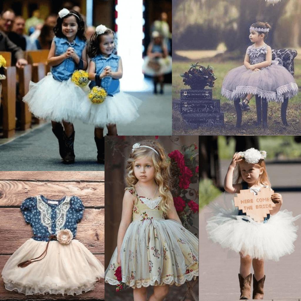 Flower girl dresses for a rustic wedding