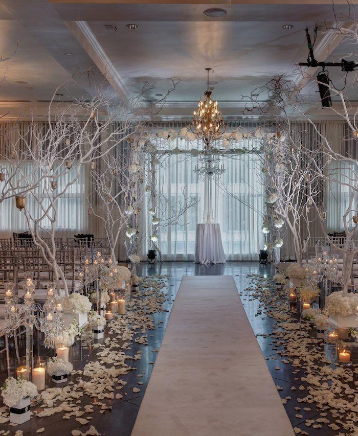 Elegant ceremony decor idea