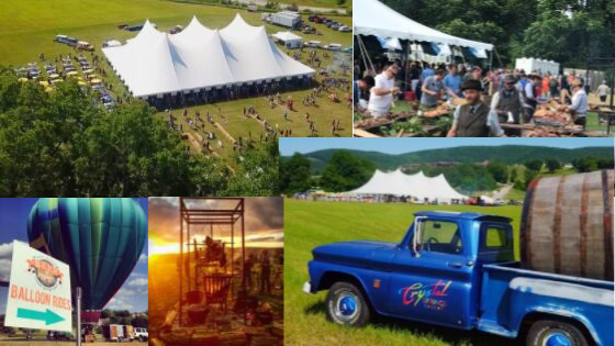 Crystal springs resort Beer and Food festival and hot air balloon rides