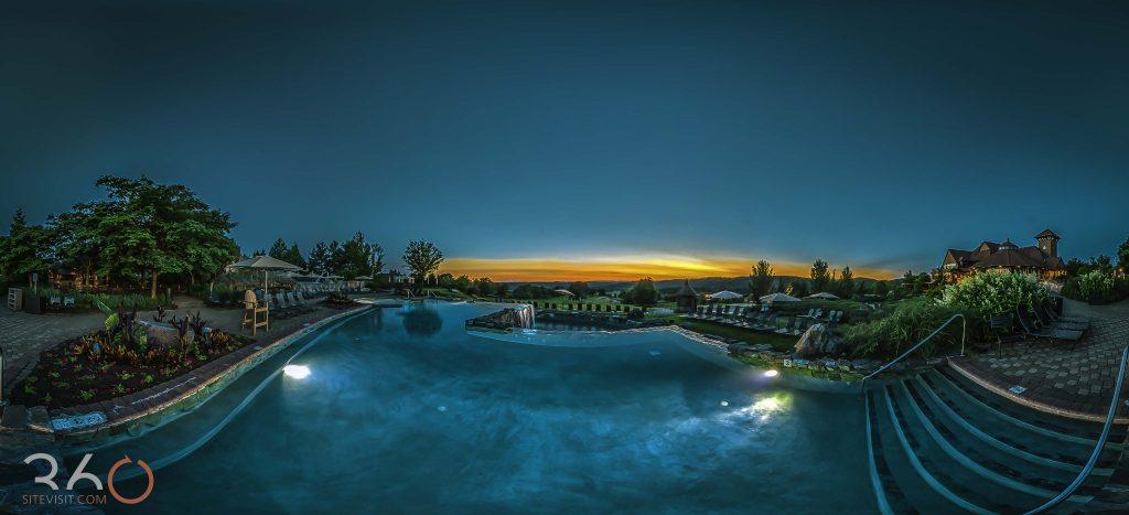 Crystal Springs Resort vista 180 pool shot by 360sitevisit