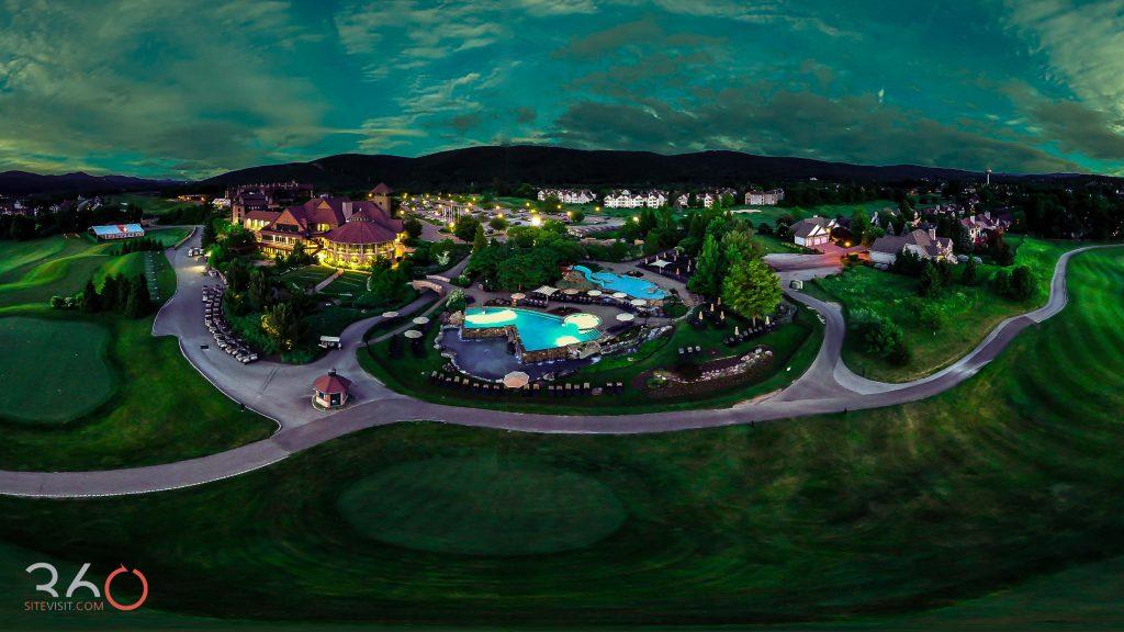 Crystal springs resort aerial shot