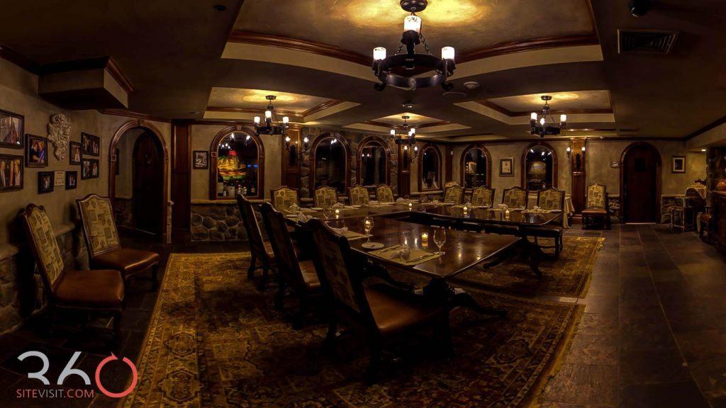 Crystal Springs Resort private room of wine cellar