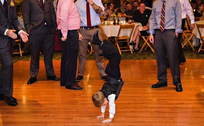 Are you ready to have an energetic ring bearer at the reception?