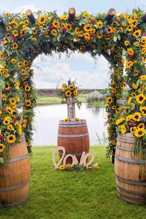 Fall Wedding Arch Ideas for Rustic Wedding