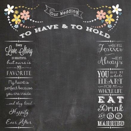 Wedding Photo Backdrop Chalkboard