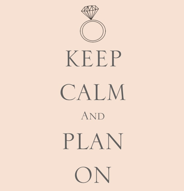 Keep Calm and plan your DIY wedding