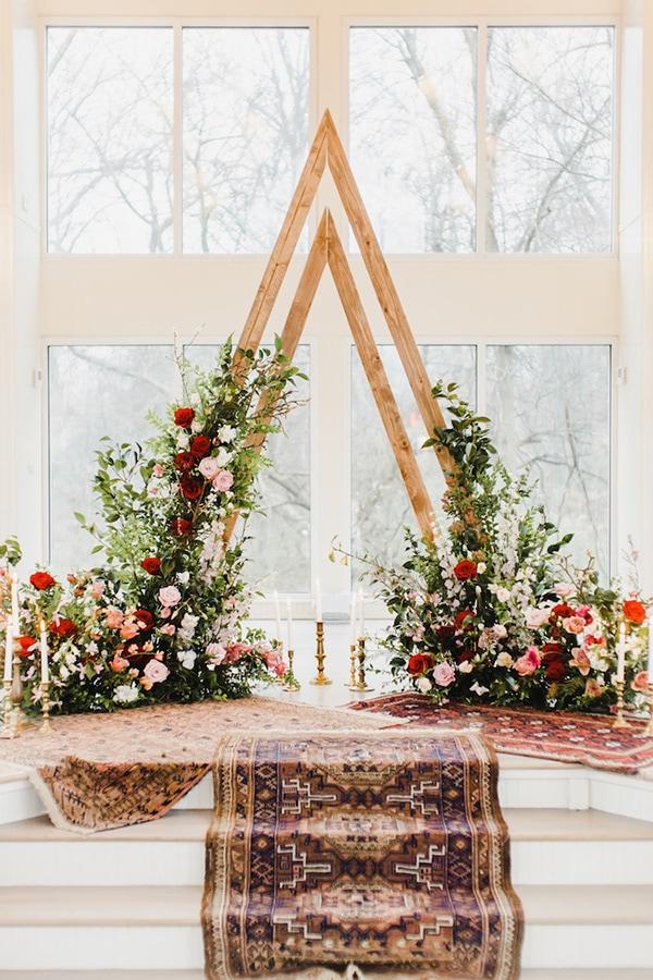Wedding Ceremony Backdrop Geometric Confetti Daydreams