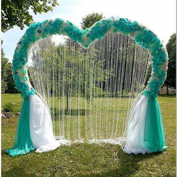 beautiful heart shape backdrop wedding ceremony