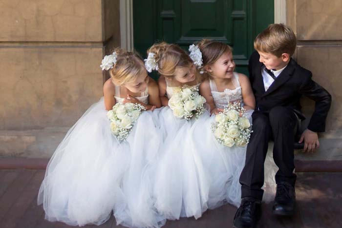 children as part of your wedding party