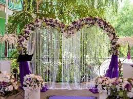 amazing purple heart wedding ceremony backdrop