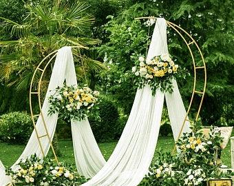 Aluminum modern wedding ceremony backdrop