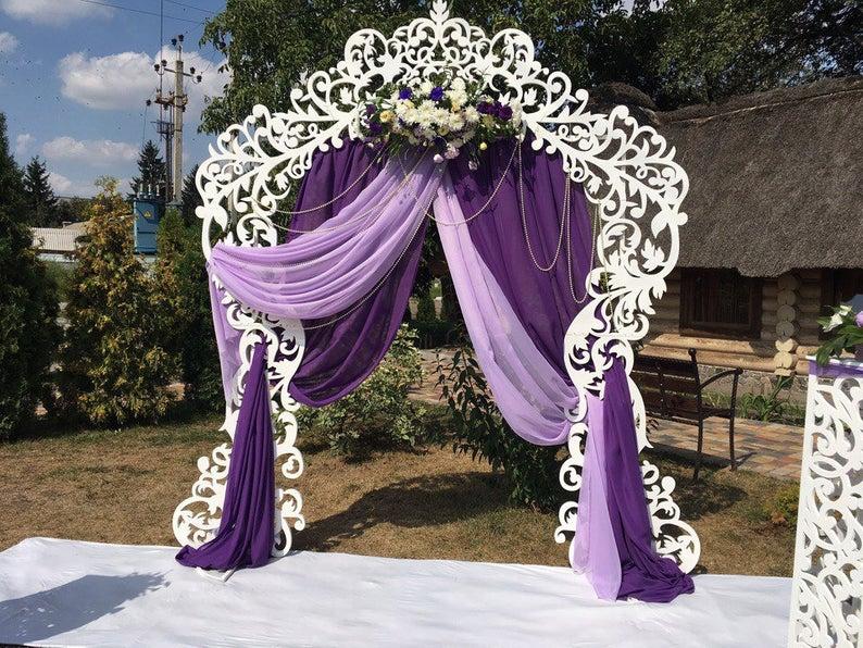 Purple wedding background arch