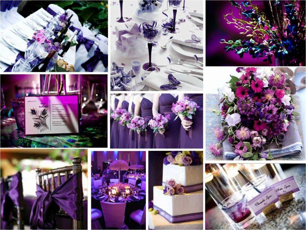 Purple party decoration
