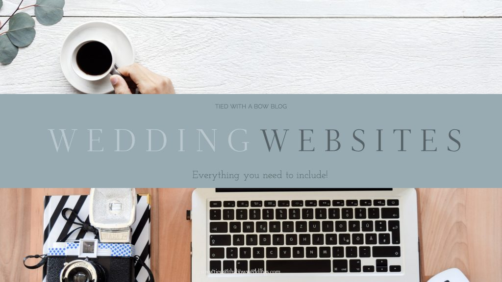 wedding website is a must have for DIY wedding planner