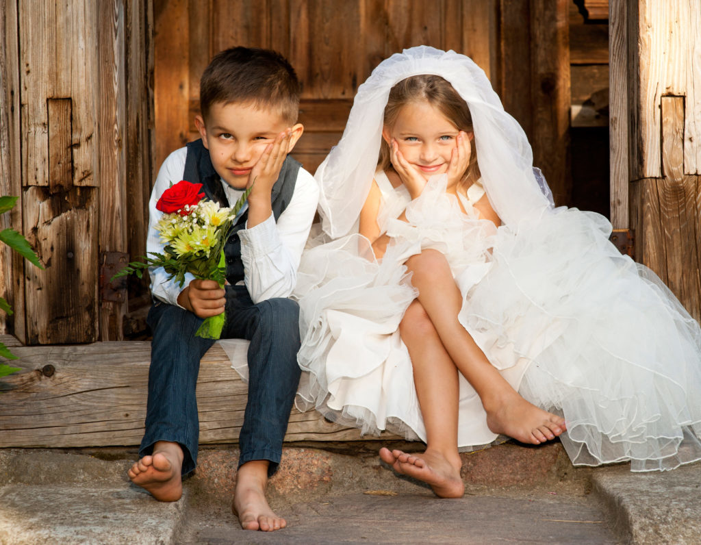 Cute Children to inspire bride to be while planning a wedding