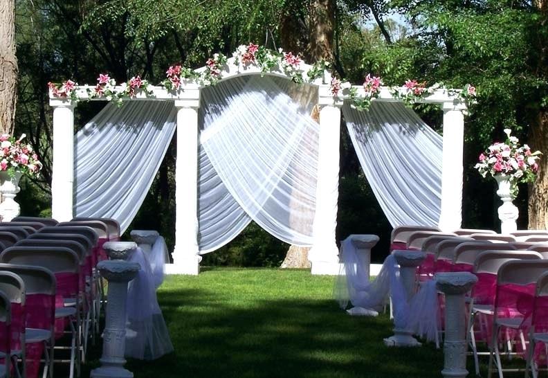 outdoor weddings backdrop decoration