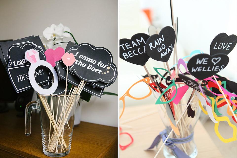 wedding quotes diy photobooth props
