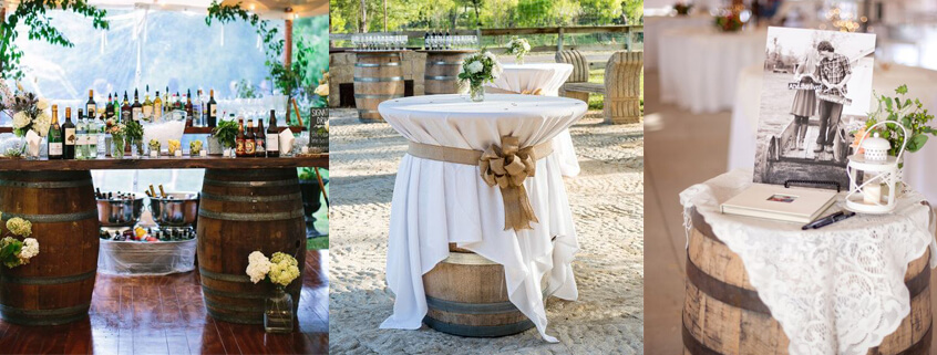 DIY wine-barrels-wedding-decor