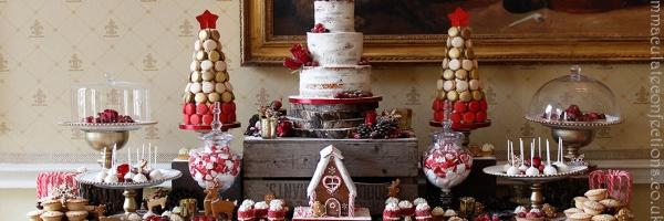 Dessert-Table-Christmas and wedding cake