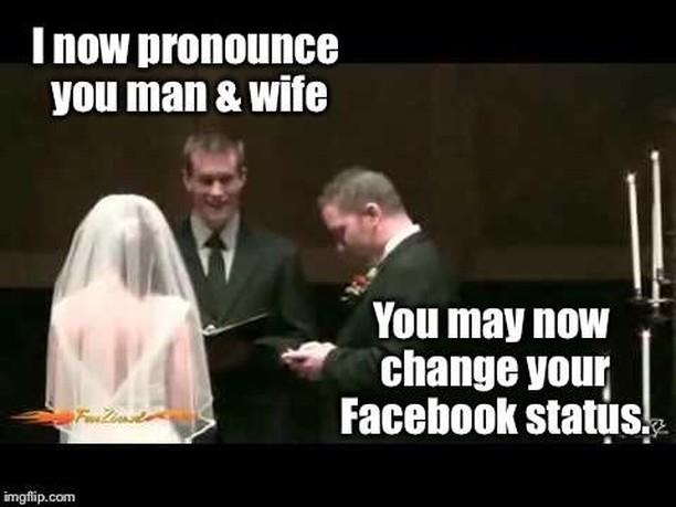 wedding meme - not official until social media says so