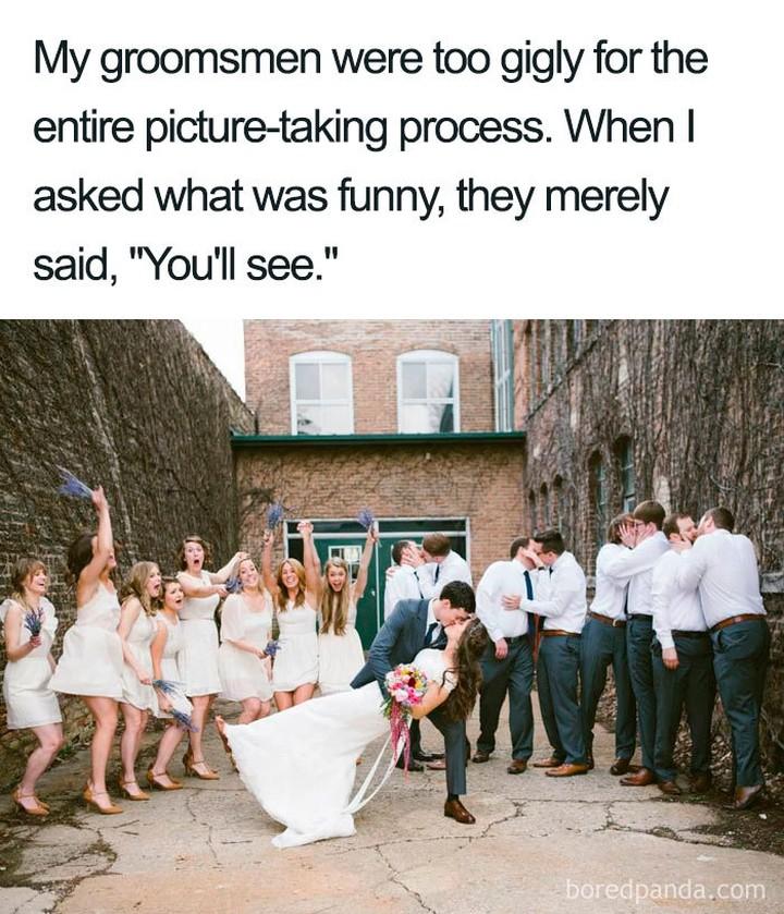 wedding meme - photo bombing