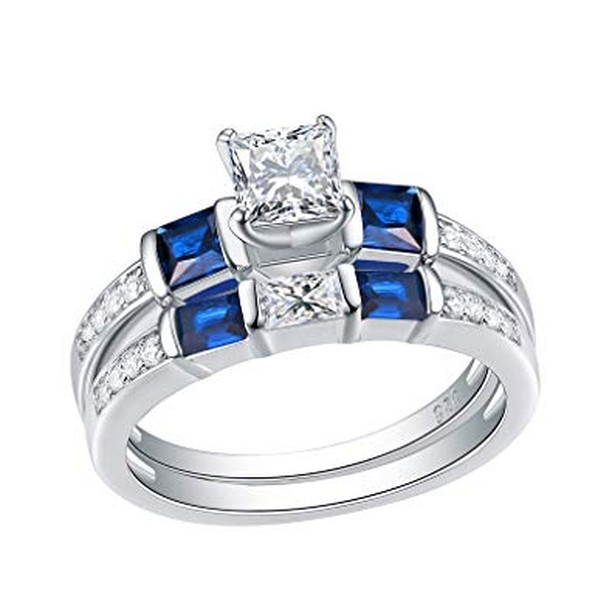 Sapphire in a wedding ring means marital happiness