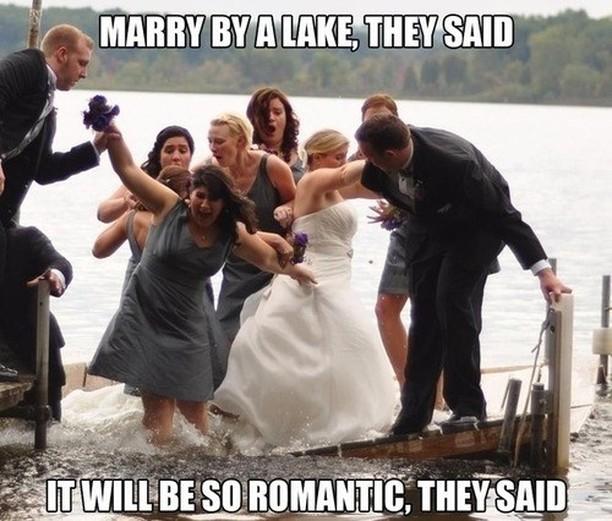 wedding meme - lake wedding