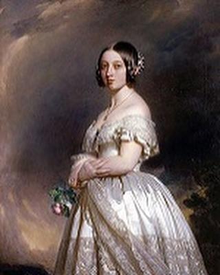 white wedding dress trend in 1840