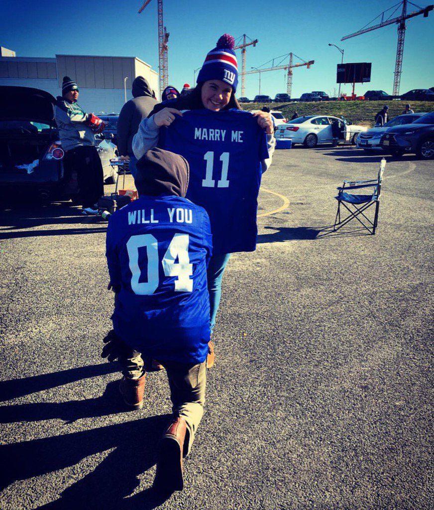 Will you marry me Football fan proposal