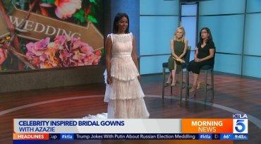 AZAZIE Celebrity Inspired Bridal Gowns - KTLA Morning News