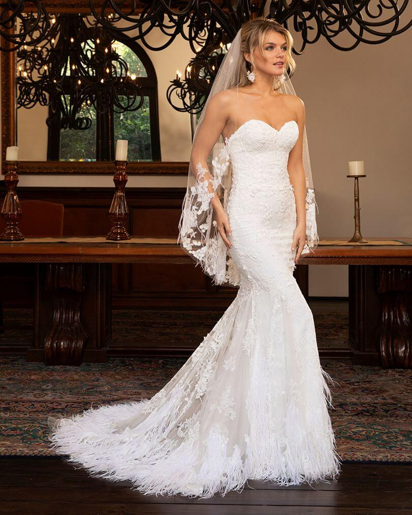 Casablanca-Bridal-Style-2385-Adeline-by-Casablanca-Bridal-for-the-unconventional-bride-feathers-flowing-from-the-train
