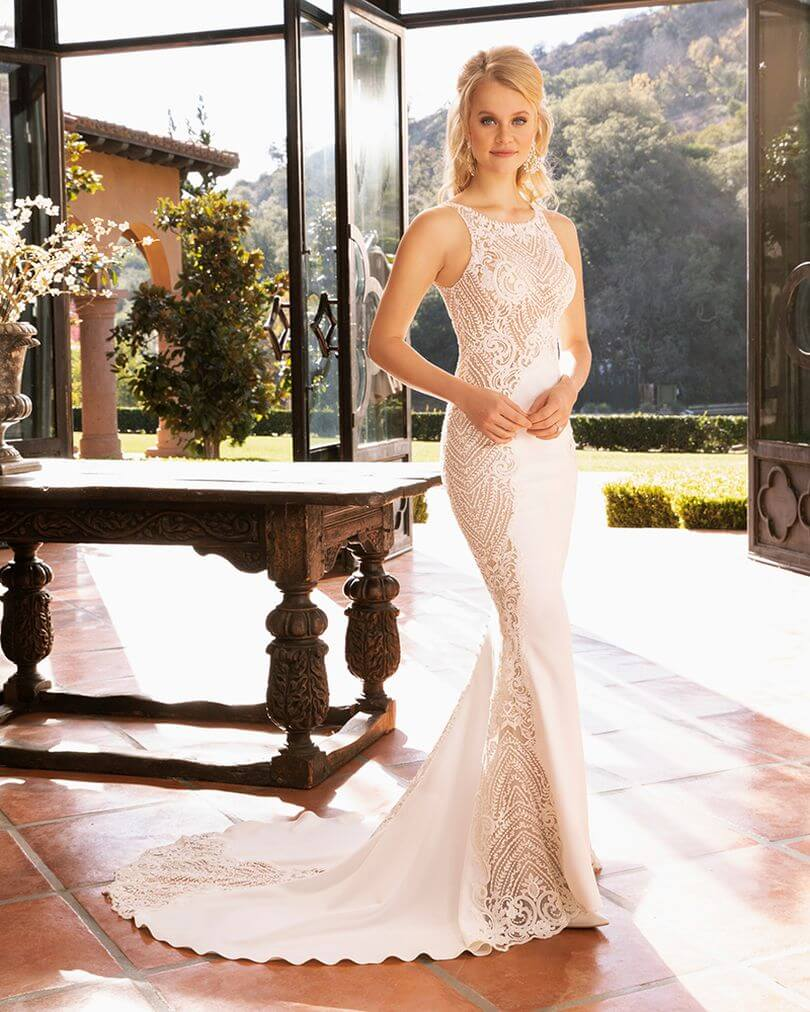 Casablanca-Bridal-Style-2390-Shoshanna-is-the-definition-of-simple-and-sexy