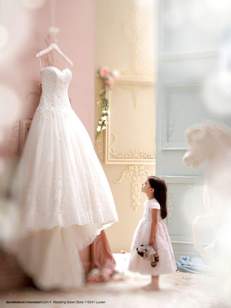Little girls dreaming of a beautiful wedding dress