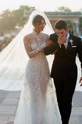 Nick Joanas's Bride Rocks Elegant Wedding Dress