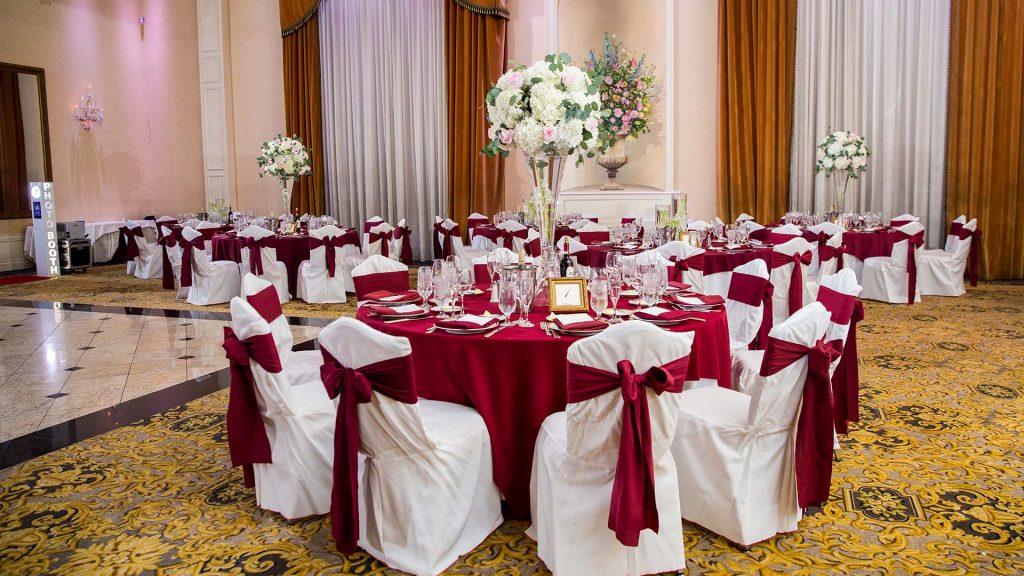 Ballroom at Il Villaggio wedding banquet Carlstadt, NJ