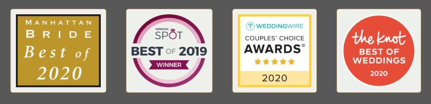 Manhattan Bride best of 2020 - The Knot - Weddingwire - Wedding Spot best of 2019 winner