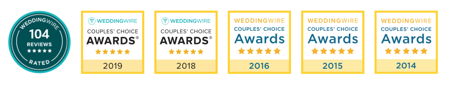 Brooklake awards from weddingwire