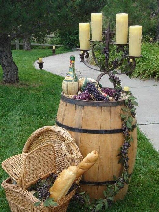Barrel Candle stand