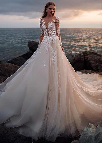 champagne-tulle-wedding-dress-with-illusion-lace-long-sleeves_grande