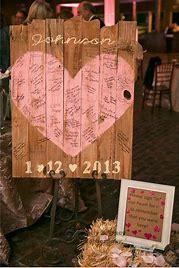 Rustic-Wedding-Pallet-guest-signature-board