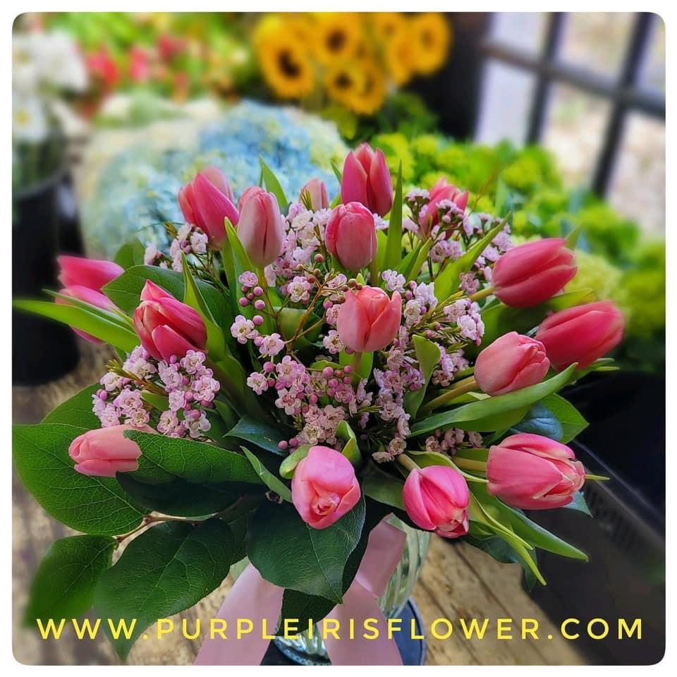 Purple Iris Flower Shop