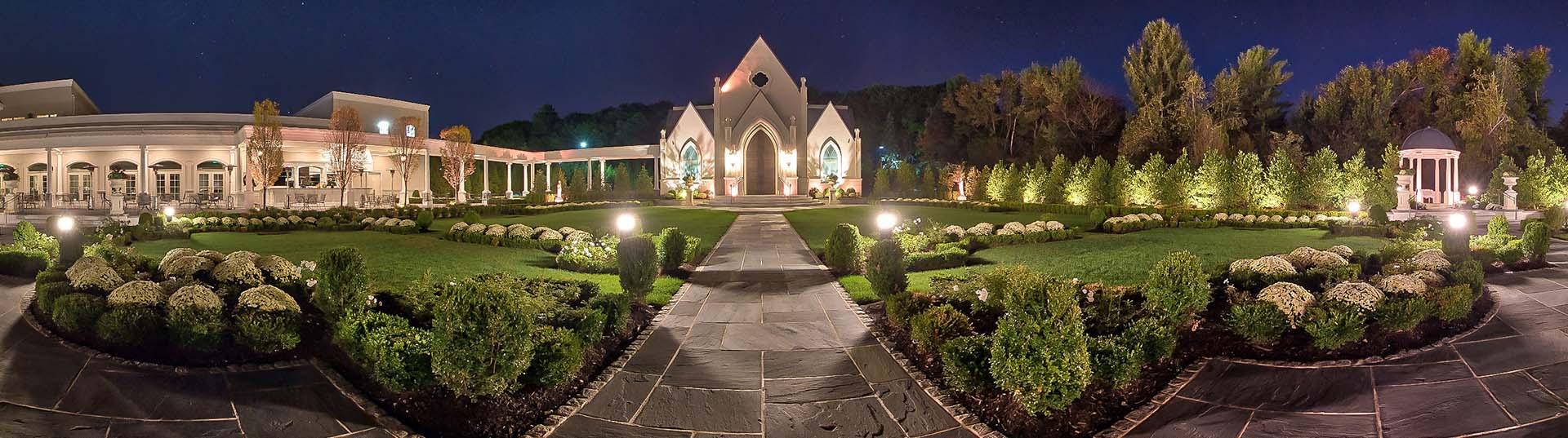 Park Chateau chapel & grounds evening