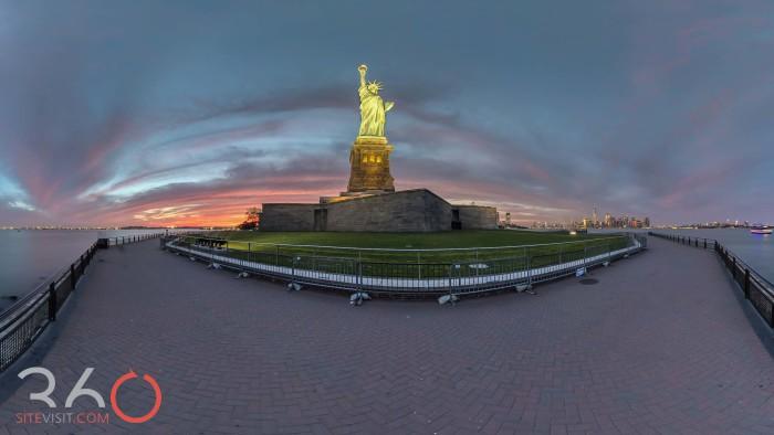 587-Liberty Island lady liberty amazing sunset by 360sitevisit