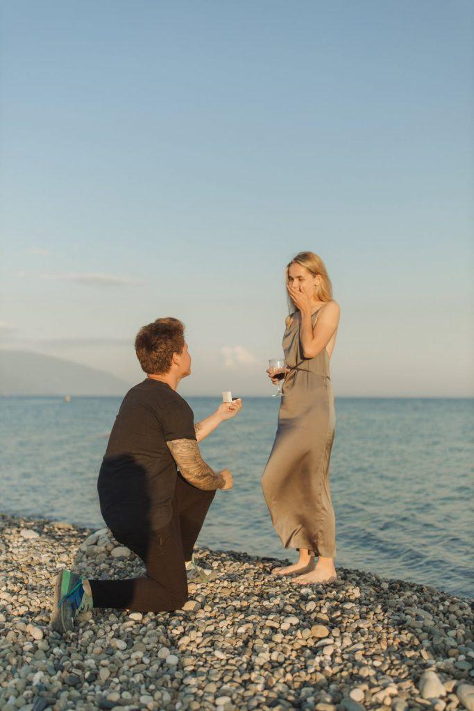 Wedding Proposal on the Beach