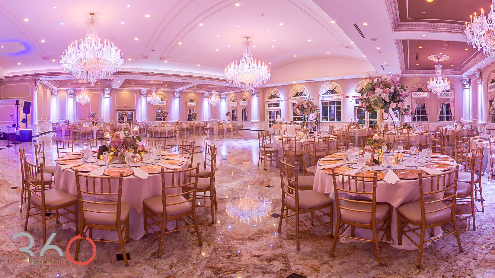 34-Old Tappan Manor Banquet Hall Old Tappan, NJ Wedding Venue Virtual tour by 360sitevisit.com